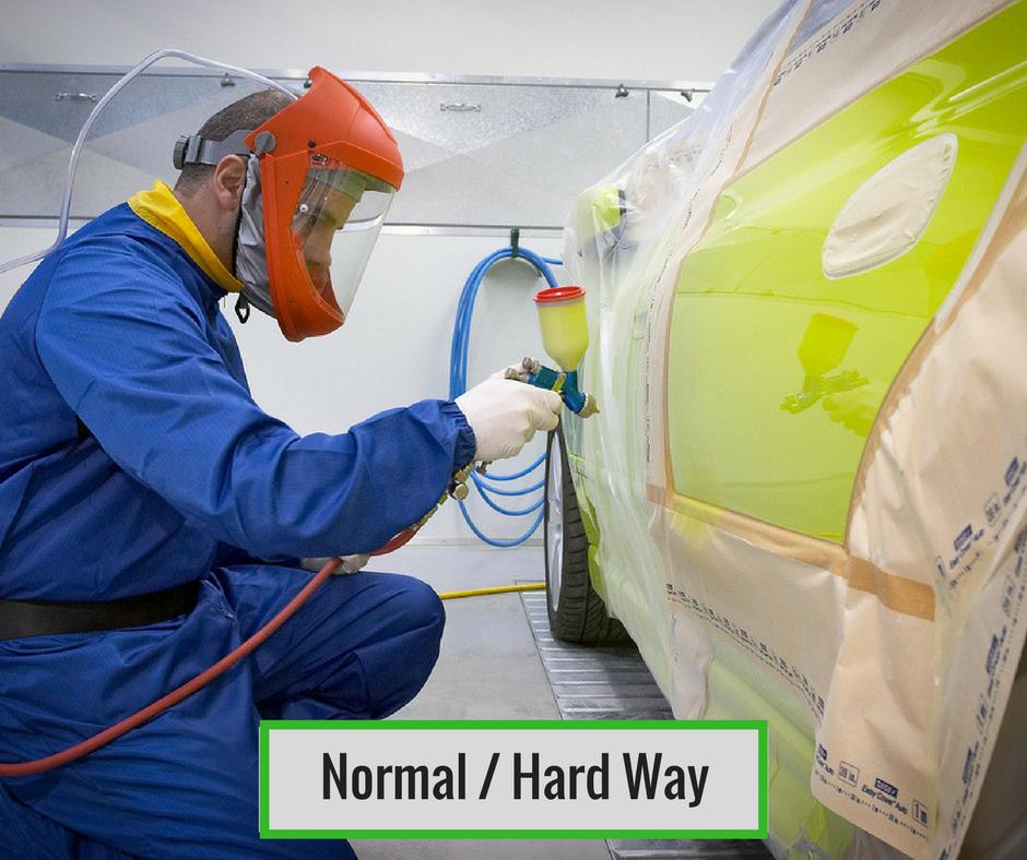 Dent Repairs Comparison Normal Hard Way